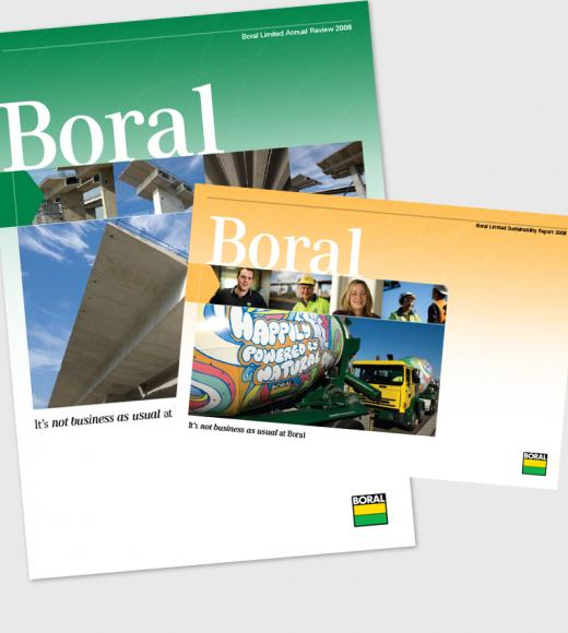 Boral Annual Report and Boral Review 2008